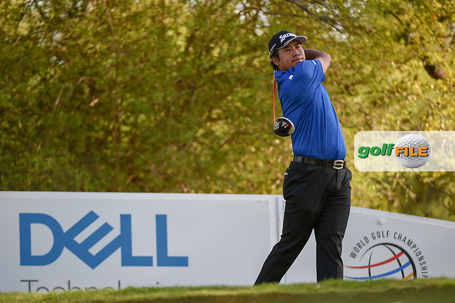 Hideki Matsuyama (JPN) watches his tee shot on 12 during day 1 of the WGC Dell Match Play, at the Austin Country Club, Austin, Texas, USA. 3/27/2019.<br /> Picture: Golffile   Ken Murray<br /> <br /> <br /> All photo usage must carry mandatory copyright credit (© Golffile   Ken Murray)