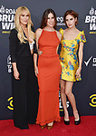 HOLLYWOOD, CA - JULY 14: (L-R) Rumer Willis, Scout Willis and Tallulah Willis arrive at the Comedy Central Roast Of Bruce Willis at the Hollywood Palladium on July 14, 2018 in Los Angeles, California.