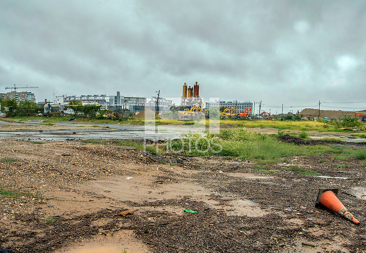 Washington D.C. - October 1, 2016: Looking east towards Nationals Park. Buzzards Point area in Southwest Washington D.C., cleared for construction of the new soccer stadium for D.C. United scheduled to open in 2018.