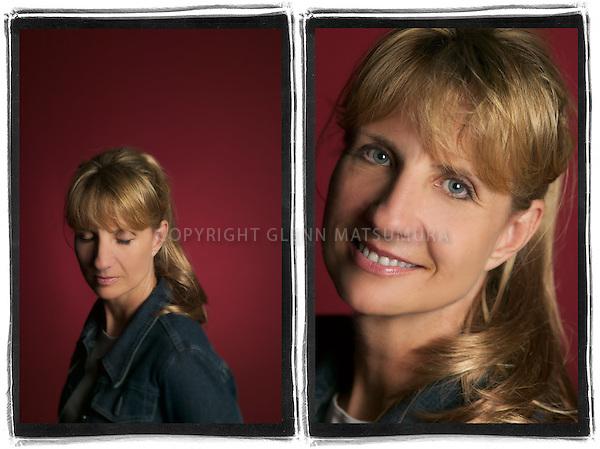 Tracy Moon portrait. Studio Moon identity design.