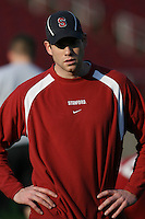 2 February 2007: Assistant Craig Knoche during winter practice workouts at Stanford Stadium in Stanford, CA.