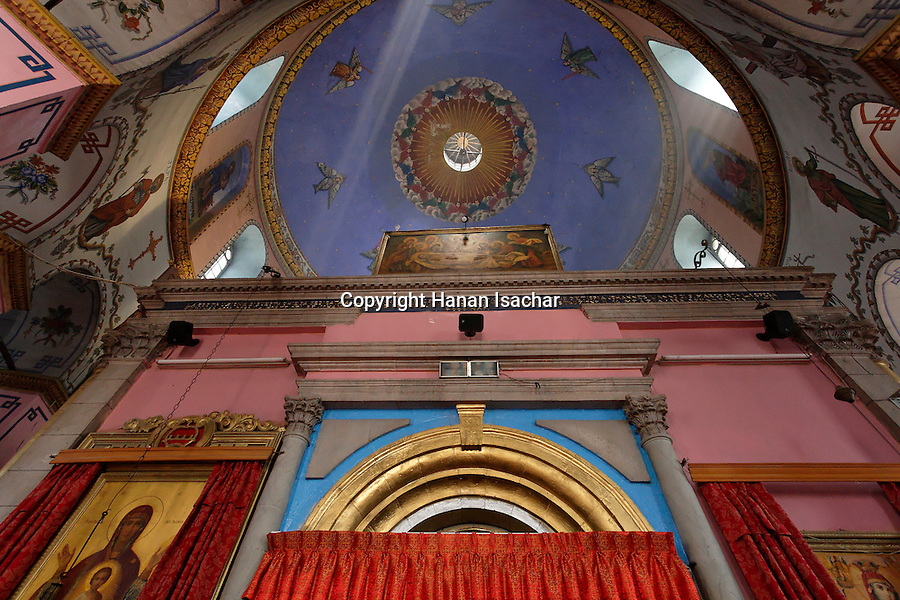 Jerusalem.The Ethiopian Church was built between 1873 and 1911, interior<br />