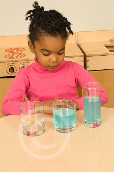 Piaget Preoperational child conservation of liquid