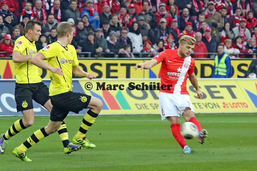 Johannes Geis (Mainz) zieht ab - 1. FSV Mainz 05 vs. Borussia Dortmund, Coface Arena, 14. Spieltag