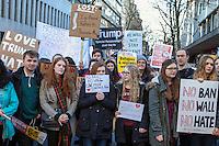 Anti Trump Protest, Waterstones, Birmingham 4th Feb 2017,