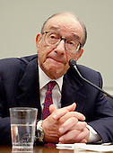 Federal Reserve Board Chairman Alan Greenspan  testifies before the U.S. House Financial Services Committee in Washington, DC, July 15, 2003. Greenspan said he was ready to keep U.S. interest rates low for a long time to lift the sagging economy and prevent a dangerous fall in prices. <br /> Credit: Ron Sachs / CNP
