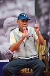 Zhao Zhiqiang speaks during the Press conference for the opening of Boris Becker Tennis Academy at Mission Hills Resort on 19 March 2016, in Shenzhen, China. Photo by Lucas Schifres / Power Sport Images