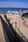 AMFXED Cromer pier beach and seafront promenade Norfolk England