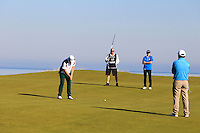 Marcus Fraser (AUS) on the 15th green during Round 1 of the 2015 Alfred Dunhill Links Championship at Kingsbarns in Scotland on 1/10/15.<br /> Picture: Thos Caffrey | Golffile