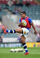 Ben Tapuai of Bath Rugby warms up prior to the match. Aviva Premiership match, between Leicester Tigers and Bath Rugby on September 3, 2017 at Welford Road in Leicester, England. Photo by: Patrick Khachfe / Onside Images