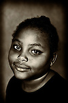 Portrait of young girl at African American Museum of Nassau County, Hempstead, New York, on Sept. 17, 2011