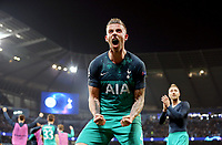 Tottenham Hotspur's Toby Alderweireld celebrates at the final whistle<br /> <br /> Photographer Rich Linley/CameraSport<br /> <br /> UEFA Champions League - Quarter-finals 2nd Leg - Manchester City v Tottenham Hotspur - Wednesday April 17th 2019 - The Etihad - Manchester<br />  <br /> World Copyright © 2018 CameraSport. All rights reserved. 43 Linden Ave. Countesthorpe. Leicester. England. LE8 5PG - Tel: +44 (0) 116 277 4147 - admin@camerasport.com - www.camerasport.com