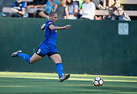 Seattle, WA - Saturday July 22, 2017: Merritt Mathias during a regular season National Women's Soccer League (NWSL) match between the Seattle Reign FC and Sky Blue FC at Memorial Stadium.