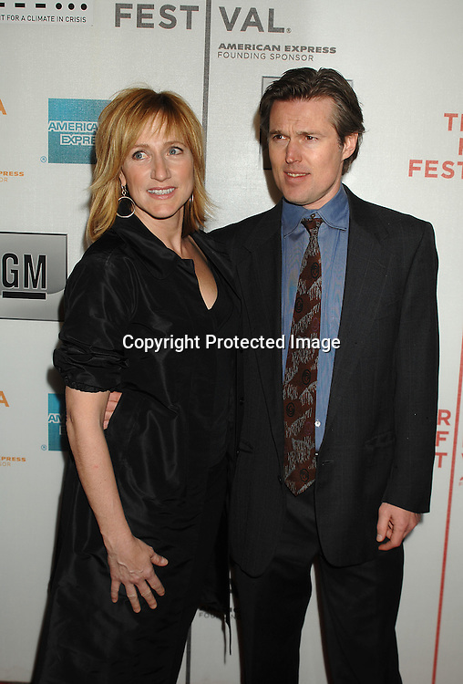 Edie Falco and Bill Sage..arriving to The Opening Night of The Tribeca Film Festival ..on April 25, 2007 at BMCC TribecaPac in New York City. ..Robin Platzer, Twin Images