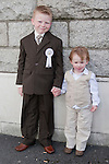 Jayme Hatch-Hyde pictured with his brother Scott after he made his First Communion at Our Lady of Lourdes Church on Saturday 16th May.