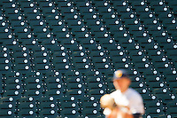 Empty seats at Minute Maid Park during the California Golden Bears and North Carolina Tar Heels NCAA baseball game on March 2nd, 2013 in Houston, Texas. North Carolina defeated Cal 11-5. (Andrew Woolley/Four Seam Images).