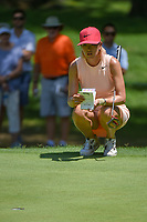 Michelle Wie (USA) lines up her putt on 2 during round 4 of the U.S. Women's Open Championship, Shoal Creek Country Club, at Birmingham, Alabama, USA. 6/3/2018.<br /> Picture: Golffile | Ken Murray<br /> <br /> All photo usage must carry mandatory copyright credit (&copy; Golffile | Ken Murray)