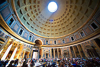 Pantheon. the 2nd century Roman temple to all Roman Gods built by the Emperor Trajan. Now the Roman Catholic  church of St. Mary and the Martyrs. Rome