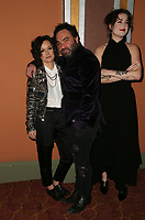 LOS ANGELES, CA - JANUARY 5: Sara Gilbert, Johnny Galecki, Alaina Meyer, at the J/P HRO &amp; Disaster Relief Gala hosted by Sean Penn at Wiltern Theater in Los Angeles, Caliornia on January 5, 2019.            <br /> CAP/MPI/FS<br /> &copy;FS/MPI/Capital Pictures