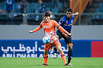 Gamba Osaka Defender Fabio Da Silva (R) fights for the ball with Jeju United Forward Hwang Ilsu (L) during the AFC Champions League 2017 Group H match Between Jeju United FC (KOR) vs Gamba Osaka (JPN) at the Jeju World Cup Stadium on 09 May 2017 in Jeju, South Korea. Photo by Marcio Rodrigo Machado / Power Sport Images