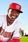 28 February 2010: Washington Nationals center fielder Nyjer Morgan poses for his Spring Training photo at Space Coast Stadium in Viera, Florida. Mandatory Credit: Ed Wolfstein Photo