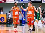 S&ouml;dert&auml;lje 2014-01-03 Basket Basketligan S&ouml;dert&auml;lje Kings - Bor&aring;s Basket :  <br /> Bor&aring;s James &quot;JJ&quot; Miller  och Bor&aring;s Roope Ahonen jublar efter matchen <br /> (Foto: Kenta J&ouml;nsson) Nyckelord:  jubel gl&auml;dje lycka glad happy