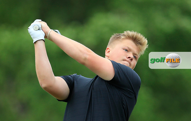 Max Martin (England) on the 9th tee during Round 3 of the Irish Boys Amateur Open Championship at Tuam Golf Club on Thursday 25th June 2015.<br /> Picture:  Thos Caffrey / www.golffile.ie