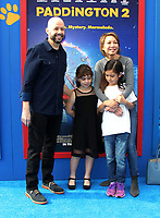 "6 January 2018 - Los Angeles, California - Jon Cryer with wife Lisa Joyner and daughter Daisy Cryer. ""Paddington 2"" L.A. Premiere held at the Regency Village Theatre. Photo Credit: AdMedia"