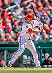 5 April 2018: Washington Nationals catcher Miguel Montero in action against the New York Mets at Nationals Park in Washington, DC. The Mets defeated the Nationals 8-2 in the first game of their 3-game series. Mandatory Credit: Ed Wolfstein Photo *** RAW (NEF) Image File Available ***