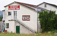 The winery building. Matusko Winery. Potmje village, Dingac wine region, Peljesac peninsula. Matusko Winery. Dingac village and region. Peljesac peninsula. Dalmatian Coast, Croatia, Europe.