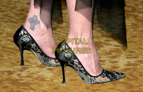 LARA FLYNN BOYLE'S SHOES.The 9th Annual Family Matters Benefit and Celebration held Regent Beverly Wilshire Hotel, Beverly Hills, California.June 3rd, 2005.Photo credit: Jacqui Wong/AdMedia.feet shoes tattoo on ankle.www.capitalpictures.com.sales@capitalpictures.com.© Capital Pictures.