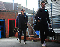 Burnley's Jack Cork arrives at Selhurst Park<br /> <br /> Photographer Ashley Crowden/CameraSport<br /> <br /> The Premier League - Crystal Palace v Burnley - Saturday 13th January 2018 - Selhurst Park - London<br /> <br /> World Copyright &copy; 2018 CameraSport. All rights reserved. 43 Linden Ave. Countesthorpe. Leicester. England. LE8 5PG - Tel: +44 (0) 116 277 4147 - admin@camerasport.com - www.camerasport.com