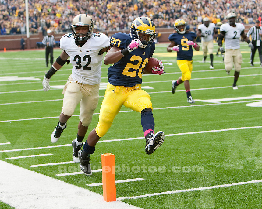 The University of Michigan football team won their Homecoming game, beating Purdue 36-14 at Michigan Stadium in Ann Arbor, Mich., on October 29, 2011.