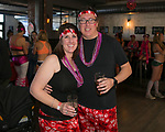 Lynne and Alex during the Cupid's Undie Run to benefit Neurofibromatosis in Reno, Nev., Saturday, Feb. 8, 2020.