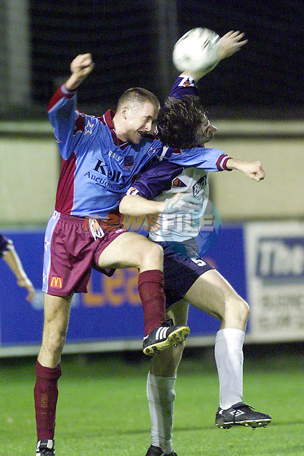 Action from Drogheda and UCD in United Park..Picture Paul Mohan Newsfile