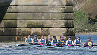 Mortlake/Chiswick, GREATER LONDON. United Kingdom. Weybridge Rowing Club/Burway Rowing Club, W.MasC.8+, COMPETING IN THE 2017 Vesta Veterans Head of the River Race, The Championship Course, Putney to Mortlake on the River Thames.<br /> <br /> <br /> Sunday  26/03/2017<br /> <br /> [Mandatory Credit; Peter SPURRIER/Intersport Images]