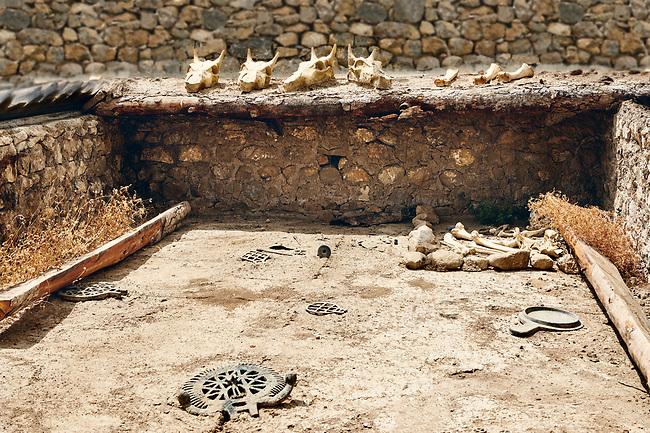 Pictures & Images of early Bronze Age Royal tomb (2500-200BC). Alaca Hoyuk (Alacahoyuk) Hittite archaeological site  Alaca, Çorum Province, Turkey, Also known as Alacahüyük, Aladja-Hoyuk, Euyuk, or Evuk