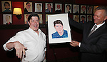 Michael McGrath, Max Klimavicius .attending the unveiling of the Sardi's caricature for the Tony Award-winning star of 'Nice Work If You Can Get It', Michael McGrath on July 12, 2012 in New York City.