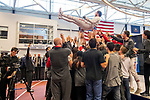 UNIVERSITY PARK, PA - MARCH 25: Marc Blais-Antoine of Ohio State University is hoisted in the air after winning the National Championship in the epee competition during the Division I Men's Fencing Championship held at the Multi-Sport Facility on the Penn State University campus on March 25, 2018 in University Park, Pennsylvania. (Photo by Doug Stroud/NCAA Photos via Getty Images)