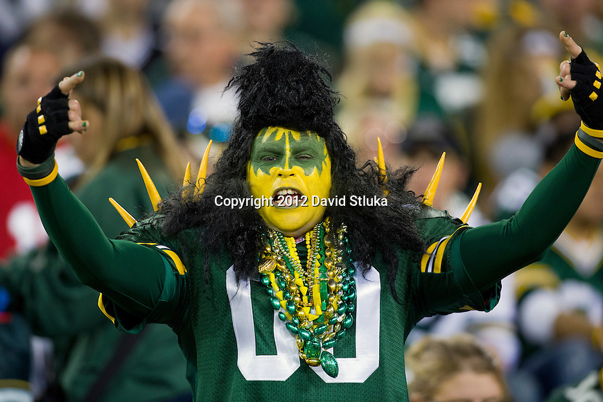 Green Bay Packers fan looks on during an NFL preseason week 2 football game against the Cleveland Browns on August 16, 2012 in Green Bay, Wisconsin. The Browns won 35-10. (AP Photo/David Stluka)