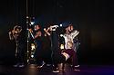 London, UK. 18.10.2013. Boy Blue Entertainment perform THE FIVE AND THE PROPHECY OF PRANA at the Barbican theatre. Dancers are: Michele 'Paleta' Rhyner, Bradley 'Bradz' Charles, Theo 'Godson' Oloyade, Kofi 'Klik' Mingo, Xena Gusthart, Vicky 'Skytilz' Mantey, Duwane Taylor, Kayla Lomas-Kirton, shaun Smith, Hakim Saber and Jumar Aben. Picture shows: Xena Gusthart (as Max). Photograph © Jane Hobson.