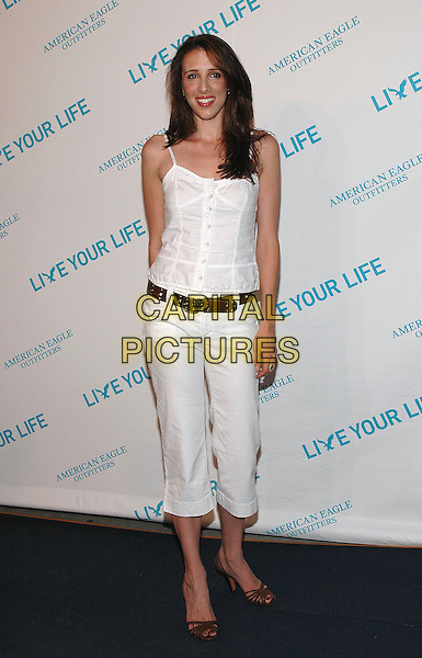 "ALEXANDRA KERRY.American Eagle Outfitters' ""Live Your Life Contest"" winners at the Union Square flagship store in Manhattan, New York, New York..July 27th, 2005  .Photo Credit: Patti Ouderkirk/AdMedia.full length white tank top brown belt three quarter length cropped trousers.www.capitalpictures.com.sales@capitalpictures.com.© Capital Pictures."