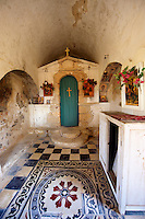 Interior of Ayii Theodori, Paliachora,   Aegina, Greek Saronic Islands