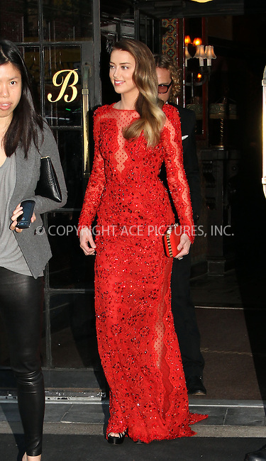 WWW.ACEPIXS.COM....May 6 2013, New York City....Amber Heard leaving a downtown hotel on the way to the Met gala on May 6 2013 in New York City........By Line: Zelig Shaul/ACE Pictures......ACE Pictures, Inc...tel: 646 769 0430..Email: info@acepixs.com..www.acepixs.com