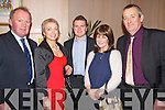 Pictured at the Lee Strand Social on Saturday night held In Ballygarry House Hotel and Spa were l-r: John and Teresa Keane (Ballymac) Tom Paul Keane (Ballymac) with Ann Devane and Tim Devane (Ballymac).