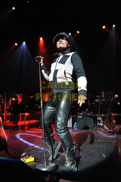 Adam Ant (Stuart Leslie Goddard).Vintage 2011 at Royal Festival Hall, London, England, UK..July 31st, 2011.stage concert live gig performance music full length black grey gray jacket leather trousers hat flat cap glasses boots.CAP/MAR.© Martin Harris/Capital Pictures.