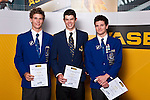 Boys Triathlon/Duathlon/Multisport finalists Sam Franklin, Michael Poole & Alex Smith. ASB College Sport Auckland Secondary School Young Sports Person of the Year Awards held at Eden Park on Thursday 12th of September 2009.