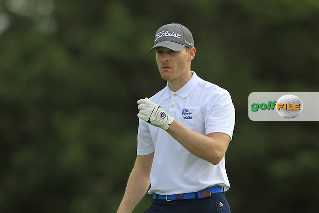 Geoffrey Claffey (Athenry) on the 1st tee during the Final of the AIG Jimmy Bruen Shield in the AIG Cups & Shields Connacht Finals 2019 in Westport Golf Club, Westport, Co. Mayo on Sunday 11th August 2019.<br /> <br /> Picture:  Thos Caffrey / www.golffile.ie<br /> <br /> All photos usage must carry mandatory copyright credit (© Golffile | Thos Caffrey)