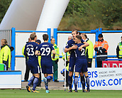 30th September 2017, The John Smiths Stadium, Huddersfield, England; EPL Premier League football, Huddersfield Town versus Tottenham Hotspur; Harry Kane of Tottenham Hotspur FC celebrates his goal in the 9th minute with his team mates 1-0