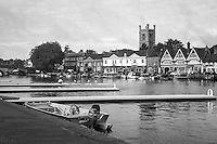 Henley Royal Regatta, Henley on Thames, Oxfordshire, 29 June-3 July 2015. Friday  01/07/2016   [Mandatory Credit/Intersport Images]<br /> <br /> Rowing, Henley Reach, Henley Royal Regatta.<br /> <br /> Official Timekeepers and the Race Reporter on the Stern of the Umpire's Launch